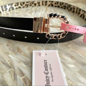 New Juicy Couture Chain Buckle Reversible belt M/L